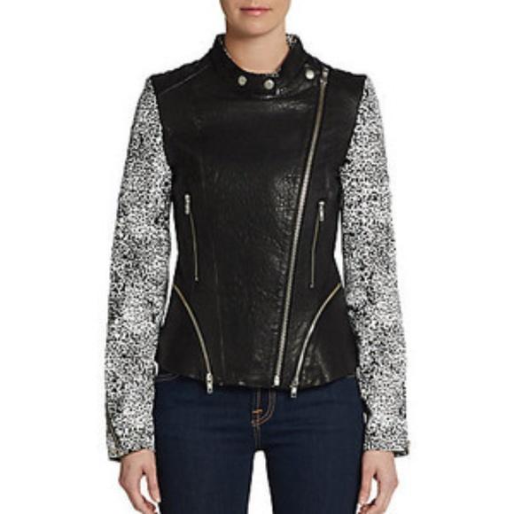 20caec26fd8bf Walter Baker Leather Liz Jacket NWT